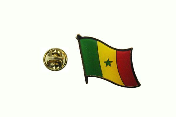 SENEGAL NATIONAL COUNTRY FLAG LAPEL PIN BADGE