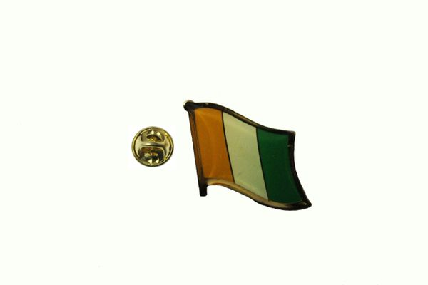 COTE D 'LVOIRE NATIONAL COUNTRY FLAG LAPEL PIN BADGE