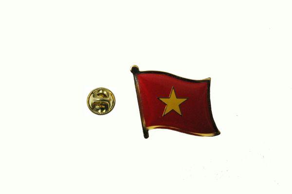 NORTH VIETNAM NATIONAL COUNTRY FLAG LAPEL PIN BADGE