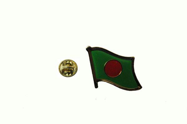 BANGLADESH NATIONAL COUNTRY FLAG METAL LAPEL PIN BADGE .. 3/4 X 3/4 INCH .. NEW