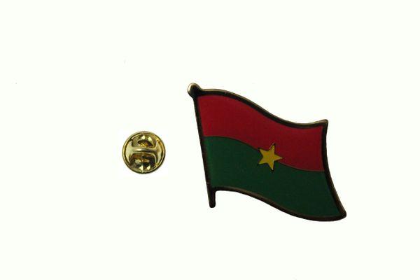 BURKINA FASO NATIONAL COUNTRY FLAG LAPEL PIN BADGE