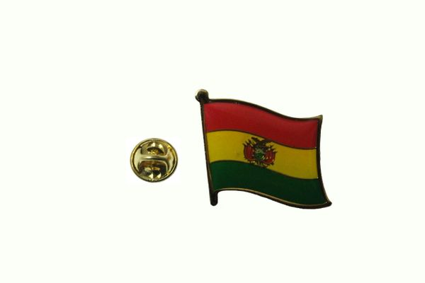 BOLIVIA NATIONAL COUNTRY FLAG LAPEL PIN BADGE