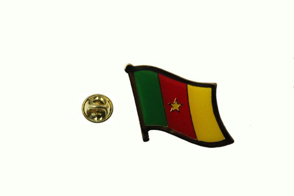 CAMEROON NATIONAL COUNTRY FLAG LAPEL PIN BADGE