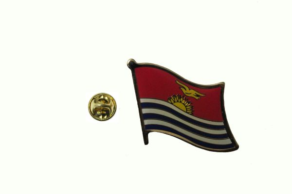 KIRIBATI NATIONAL COUNTRY FLAG LAPEL PIN BADGE