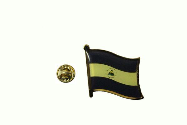 NICARAGUA NATIONAL COUNTRY FLAG LAPEL PIN BADGE