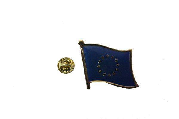 EUROPEAN UNION FLAG LAPEL PIN BADGE