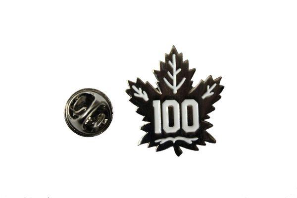TORONTO MAPLE LEAFS 100 Year Anniversary NHL Hockey LOGO METAL LAPEL PIN BADGE