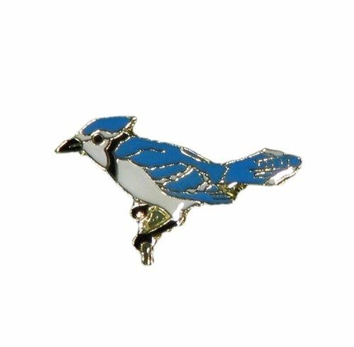 BLUE JAY WILDLIFE ANIMAL LAPEL PIN BADGE