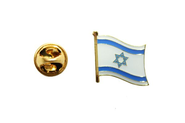 ISRAEL COUNTRY FLAG METAL LAPEL PIN BADGE .. Size : 0.75 X 0,75 Inch