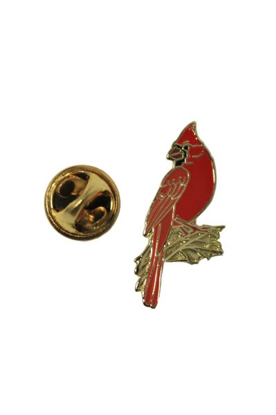 "RED CARDINAL Wildlife Metal LAPEL PIN BADGE .. Size : 0.75"" x 1.25"" Inch"