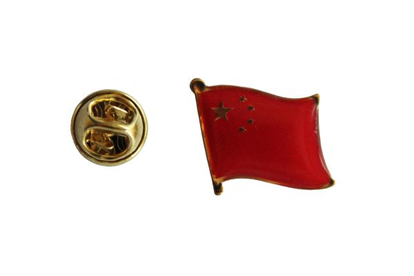 CHINA NATIONAL COUNTRY FLAG METAL LAPEL PIN BADGE .. 3/4 X 3/4 INCH ... NEW