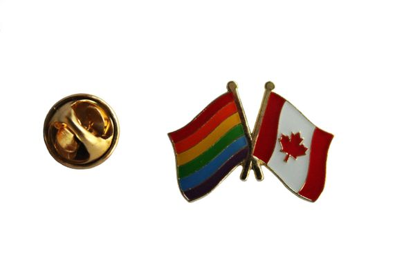 CANADA / LGBTQ Gay & Lesbian Pride.. FRIENDSHIP Flags Metal LAPEL PIN BADGE