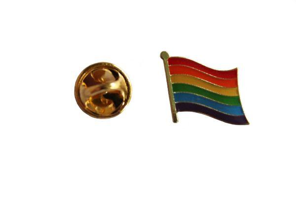 LGBTQ Gay & Lesbian..Pride WAVING Flag Metal LAPEL PIN BADGE