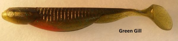 """Baby Swayback Swimmer 3.25"""" - Green Gill #51"""