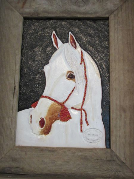 Natural Veg Tan Horse Head Leather Piece Ready to Paint and Frame 5 oz Good for Crafting equestrian; horse lover gift 8 x 10