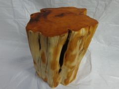 Yew Wood End Table