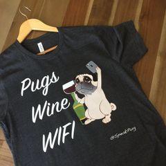 Pugs Wine Wifi (Mens Size)