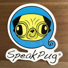SpeakPug Sticker Logo Blue