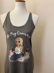 The Pug Queen [RACER TANK]