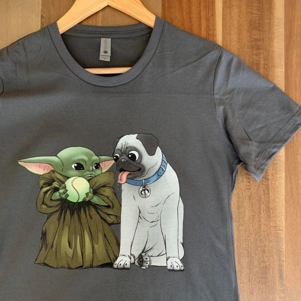 Kid and Pug [UNISEX] Heavy Metal Color