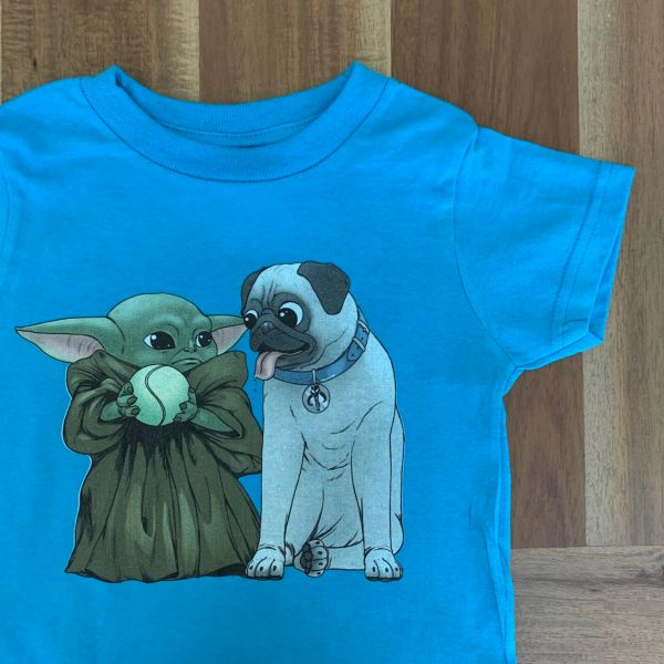 Kid and Pug BLUE[Toddler]