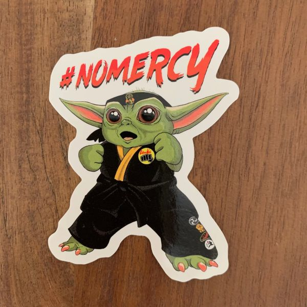 NO MERCY DIE CUT STICKER