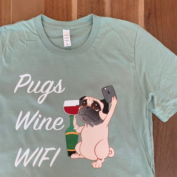 PUGS WINE AND WIFI LIMITED EDITION COLOR [MENS]