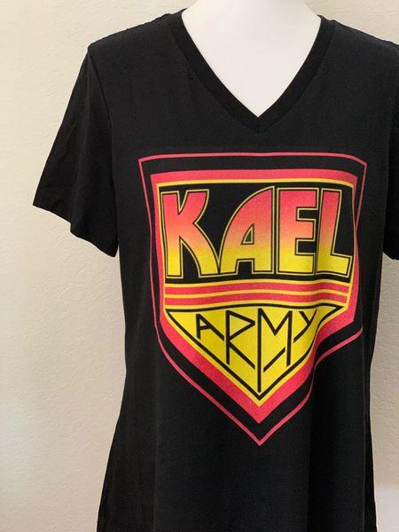 KAEL ARMY [WOMEN'S VNECK]