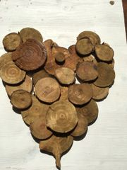 Wood heart plaque
