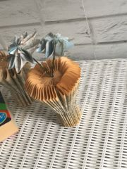 Dictionary book vase and flowers - Maps