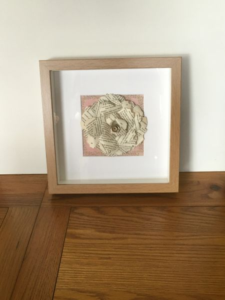 Romeo and Juliet paper rose