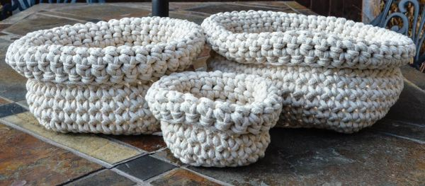 Chunky Cotton Cord Baskets
