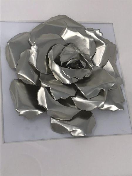 Pewter Metal Rose