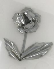 Sheet pewter bud rose