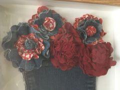 Denim Fabric Rose Frame