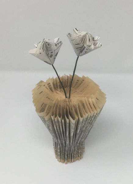 Dictionary book vase - Music