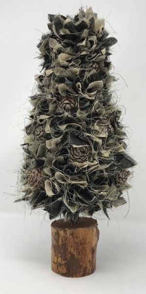 Fabric Christmas Tree Black Multi