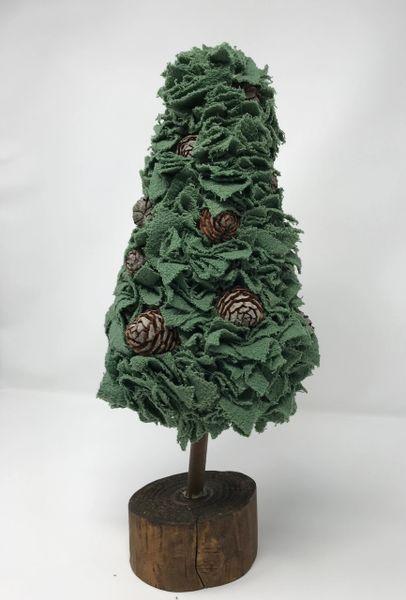 Fabric Christmas Tree Green - 1
