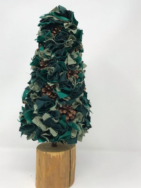 Fabric Christmas Tree - Green Multi