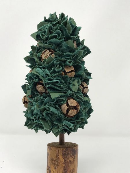 Fabric Christmas Tree - Green small