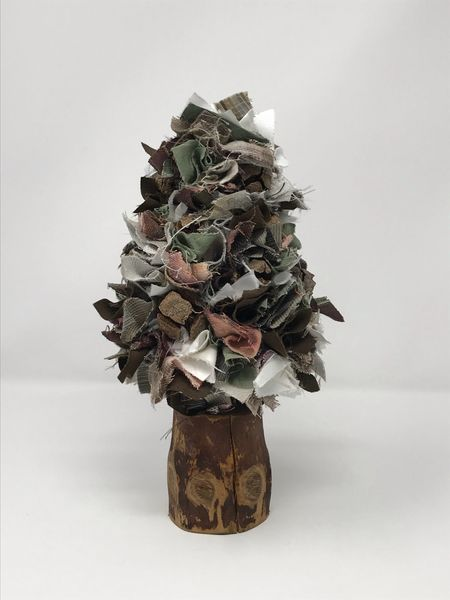 Fabric Christmas Tree - Autumn Multi Small (1)