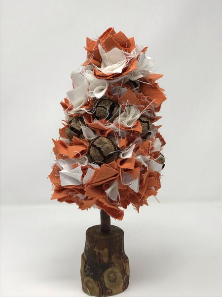 Fabric Christmas Tree - Autumnal Small (3)