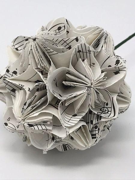 Paper Flower Ball - Music 3 sizes