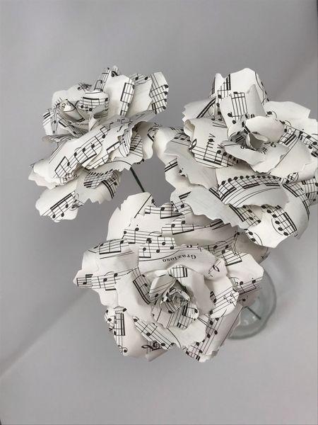 Sheet Music Bouquet - paper roses