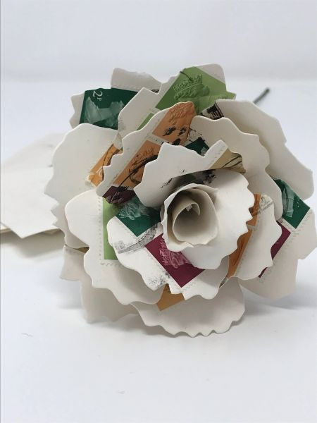 Individual Paper Rose - Used stamps