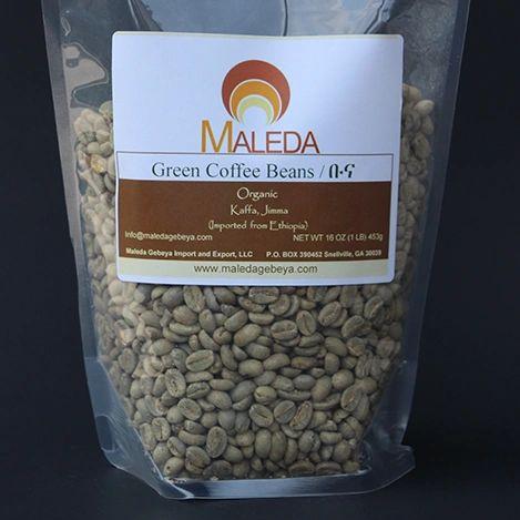 Green Unroasted Coffee Beans [BUNA] 1Lb.
