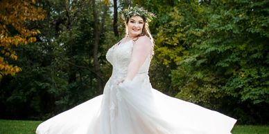 Plus size wedding dresses in Iowa, plus size bridal shop
