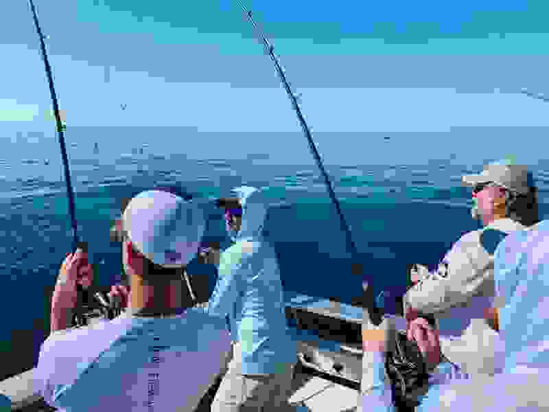Lake Michigan salmon charter fishing