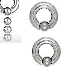 316L Steel Easy Pop Captive Bead Ring 0g