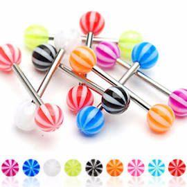 316L Candy Stripe Barbell-Orange